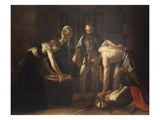 Beheading of Saint John the Baptist, 1608 Giclee Print by  Caravaggio