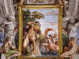 Cyclops Polyphemus Attempting to Seduce Galatea, from Loves of the Gods Frescos Photographic Print by Annibale Carracci