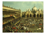Bullfight in St Mark's Square, Venice, Italy, by Canaletto and Giovanni Battista Cimaroli Giclee Print by  Canaletto