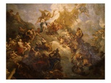 The Apotheosis of Hercules, Ceiling of Hercules Salon, Decorated 1710 Giclee Print by Francois Lemoyne