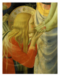 Mary Magdalene Kissing Christ's Feet, from the Deposition of Christ, 1435 (Detail) Giclee Print by Fra Angelico