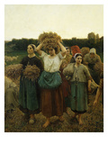 Le Rappel Des Glaneuses (Return of the Gleaners), 1859 (Mi 289) Giclee Print by Jules Breton