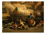 Attack on the Tuileries Palace, Paris, France, 10 August 1792 During French Revolution Giclee Print by Jacques Bertaux