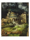 Castle and Monastery, from the Rest on the Flight into Egypt (Detail) Giclee Print by Joachim Patenier or Patinir