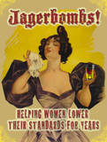 Jagerbombs Tin Sign