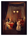 Roman Salon of Queen Hortense De Beauharnais, 1783-1837 Wife of Napoleon's Brother Louis Bonaparte Giclée-tryk af Pierre Felix Cottrau
