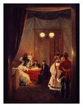 Roman Salon of Queen Hortense De Beauharnais, 1783-1837 Wife of Napoleon's Brother Louis Bonaparte Giclee Print by Pierre Felix Cottrau