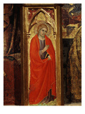 Saint, from Altarpiece, Montepulciano Cathedral, Italy (Detail) Giclée-tryk af Taddeo di Bartolo