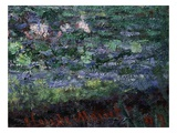 Monet's Signature, from Le Bassin Aux Nymphéas, Harmonie Verte, Waterlily Pool, Harmony in Green Giclee Print by Claude Monet