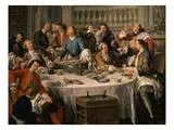 Le Déjeuner D'Huîtres (Oyster Dinner) 1735 (Detail) Giclee Print by Jean Francois de Troy