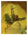 Angel with Sword and Shield, from the Fall of the Rebel Angels, Fresco, Grand Staircase (Detail) Giclee Print by Giambattista Tiepolo