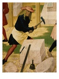 Stonemason, from Construction of Klosterneuburg Monastery, with Leopold III, C.1073-1136 Giclee Print by Rueland Frueauf the Younger