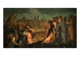 Destruction of the Walls of Jericho Giclee Print by Jacopo Palma the Younger