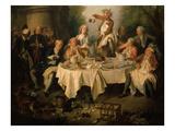 Le Déjeuner De Jambon (The Ham Dinner) (Detail) Reproduction procédé giclée par Nicolas Lancret