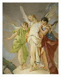 Angels, from Apparition of the Angels to Abraham, Fresco, 1726-28 (Detail) Giclee Print by Giambattista Tiepolo