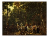 Fiancailles D'Un Prince (Engagement of a Prince) Giclee Print by Adolphe Roehn
