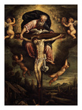 The Holy Trinity, Oil on Copper Giclee Print by Leandro Da Ponte Bassano