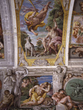 Paris and Mercury, from Loves of the Gods Frescos, Carracci Gallery, Palazzo Farnese, Rome, Italy Photographic Print by Annibale Carracci