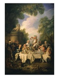 Le D&#233;jeuner De Jambon (The Ham Dinner) Giclee Print by Nicolas Lancret