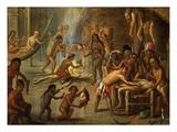 Cannibalism Giclée-Druck von Jan I van Kessel