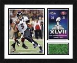 Joe Flacco Super Bowl XLVII Framed Milestone & Memories with Game-Used Turf- Framed Memorabilia