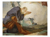Abraham Praying, from Apparition of the Angels to Abraham, Fresco, 1726-28 (Detail) Giclee Print by Giambattista Tiepolo