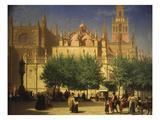 Seville Cathedral (La Cathédrale De Seville), Spain Giclee Print by Achille Zo