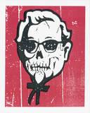 Skull Sanders Serigraph by  Print Mafia