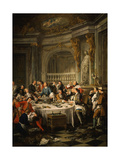 Le D&#233;jeuner D&#39;Hu&#238;tres (Oyster Dinner) 1735 Giclee Print by Jean Francois de Troy