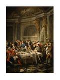 Le Déjeuner D'Huîtres (Oyster Dinner) 1735 Giclee Print by Jean Francois de Troy