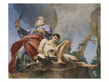 The Sacrifice of Isaac, Fresco, 1726-28 Giclee Print by Giambattista Tiepolo