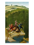 Wild Boar Hunt Giclee Print by Rueland Frueauf the Younger