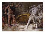 Perseus Holding Up Head of the Gorgon Medusa, from Loves of the Gods Frescos Giclee Print by Annibale Carracci
