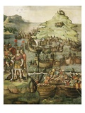 Battle of Milazzo, Sicily, 260 BC During Punic Wars, Fresco Giclee Print by Jacopo Ripanda