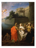 Abduction of Helen of Troy (Enlèvement D'Hélène) Giclee Print by Bon Boulogne