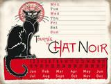 Chat Noir Calendar Blechschild