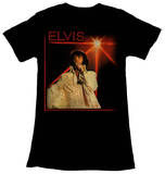 Juniors: Elvis Presley - Microphone T-Shirts