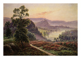 Paysage Aux Bruyères (Heather-Covered Landscape in the Dordogne, France), Late 19th Century Giclee Print by Gaston Anglade