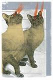 Lazer Cats Serigraph by  Print Mafia