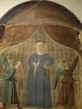 Madonna Del Parto (Madonna of the Birth), Fresco, Cemetery Chapel, Monterchi, Italy Photographic Print by  Piero della Francesca