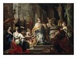 The Idolatry of Solomon Giclée-tryk af Sebastiano Conca