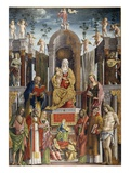 Madonna and Child with Saints Giclee Print by Martino da Udine or di Battista