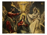 The Coronation of the Virgin, 1591 (Detail) Giclee Print by El Greco