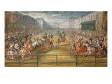 Le Pompeux Carrousel Des Galantes Amazones Des Quatre Parties Du Monde Giclee Print by Jean-Baptiste Martin