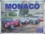 Monaco 13 Mai 1958 Plaque en métal