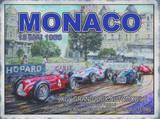 Monaco 13 Mai 1958 Blechschild