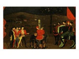 Jewish Merchant and Family Burned at the Stake (Punishment for Trying to Burn the Host) Giclee Print by Paolo Uccello