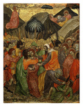 The Kiss of Judas from Predella, Montepulciano Cathedral, Italy Giclée-tryk af Taddeo di Bartolo