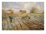 La Gelée Blanche (Hoarfrost), 1873 Giclee Print by Camille Pissarro