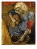 Woman Pouring Water, from Birth of the Virgin Mary (Detail) Giclee Print by Master of San Lucchese